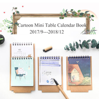 2018 Cartoon Cute Mini Table Note Calendar With Check List Daily Portable Schedule Supply Little Notebook Of Calendar