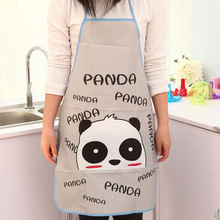 Kawaii Kitchen Apron , Panda , Hello Kitty Etc Waterproof PVC Adult 70*50CM Women Lady's Kitchen Apron Pinafore ; Cooking Aprons