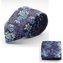GUSLESON New Design Silk Tie Set for Men 7cm Tie Men Handkerchief Necktie Cravate Man Corbatas Hombre Floral Slim Wedding Tie(China)