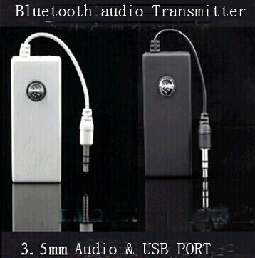 Free Shipping Wireless Stereo Bluetooth Transmitter audio dongle for ipod mp3 computer support devices with 3.5mm audio port<br><br>Aliexpress