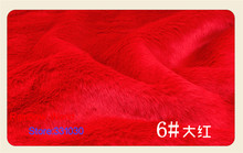 6# Red 1 meter Imitation Rabbit's hair plush fabric height 2cm for DIY colthes overcoat hat carpet material