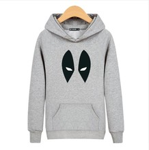 Deadpool Hoody Sweatshirts Comic Wade Wilson Hoodies Full Sleeve Outerwear Jacket Pullovers Anime Characters Jumpers
