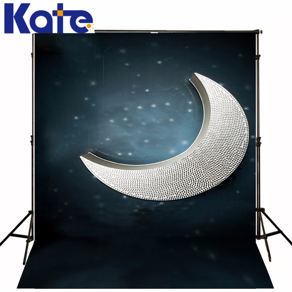 New Arrival Background Fundo Curved Moon Stars 300Cm*200Cm(About 10Ft*6.5Ft) Width Backgrounds Lk 3811<br>