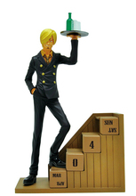 High Quality Anime One Piece New World Eternal Calendar Sanji 17cm PVC Action Toys Figure Model OP088