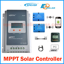 Tracer 2210A 20A MPPT Solar Charge Controller 12V 24V LCD EPEVER Regulator MT50 WIFI Bluetooth PC Communication Mobile APP