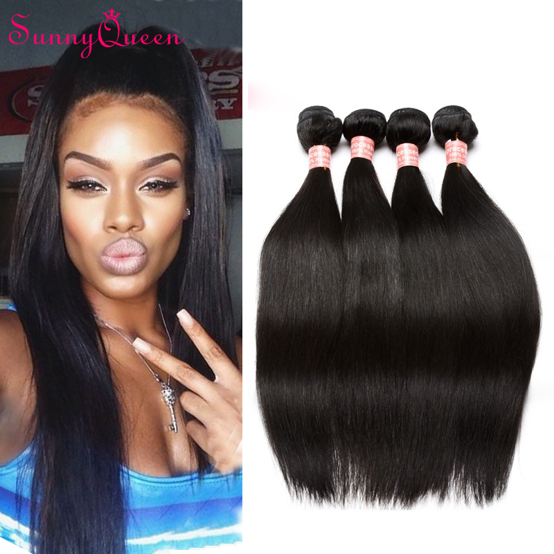 Brazilian Virgin Hair Straight 4 Bundles Unprocessed Virgin Hair Straight Human Hair Weave Soft Brazilian Straight Virgin Hair<br><br>Aliexpress