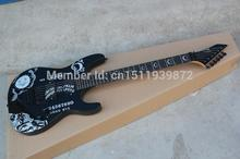 High quality Custom Shop ESP Ebony KH-2 Kirk Hammett Ouija black Opera Guitar Ebony fingerboard Electric Guitar(China)