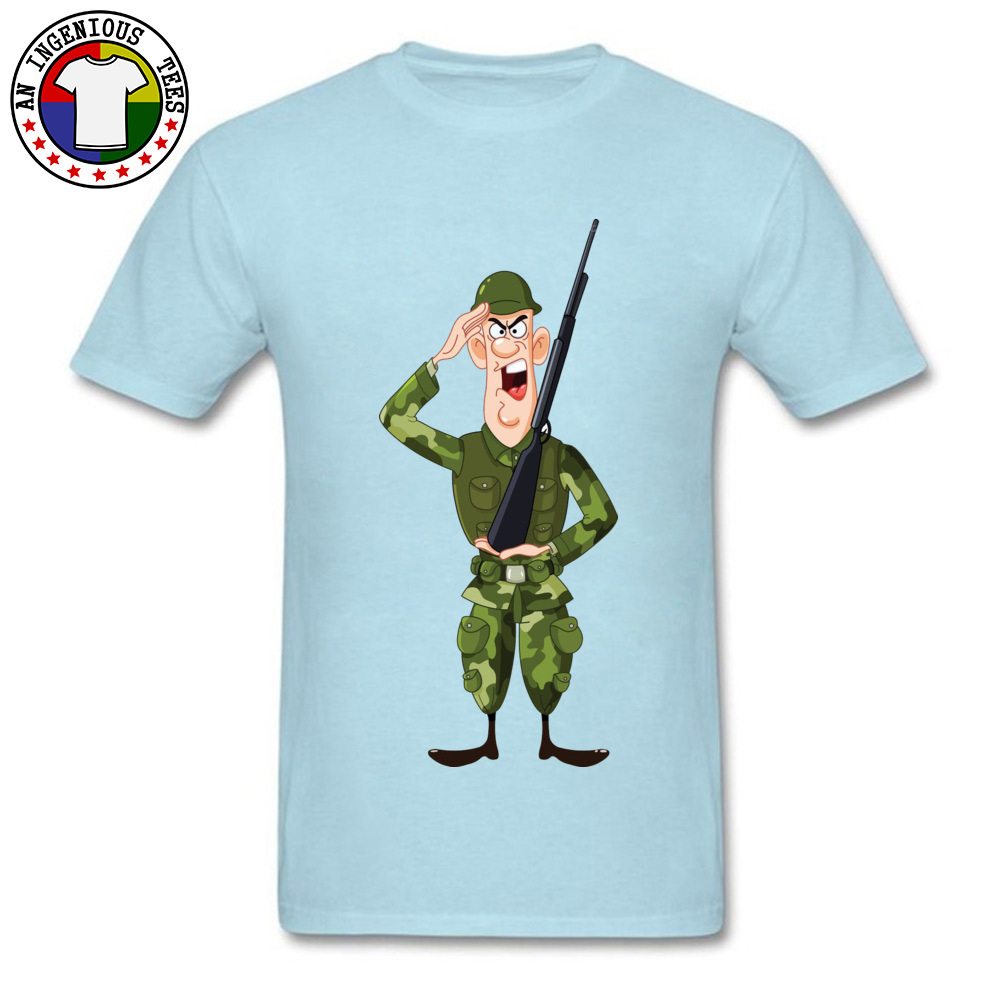 Soldier Salute Royalty Crewneck Top T-shirts Autumn Tees Short Sleeve Hip Hop Pure Cotton Design Tee Shirt Normal Men Soldier Salute Royalty light