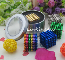 5mm 216 pcs Neo Cube Magic Cube Puzzle Metaballs Magnetic Balls with metal box Magnet Neo Cube Magic Toys Gift Xmas