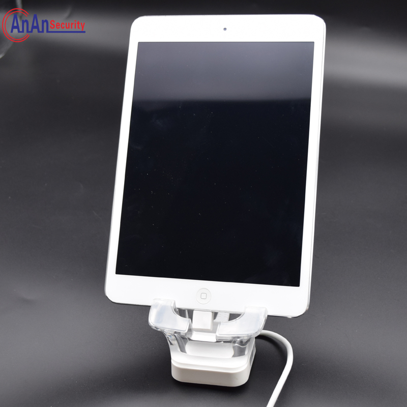 10pcs Free Ship Tablet PC display antitheft Cell phone holder Retail Stop Security alarm with charging for ipad/micro usb/type C<br>