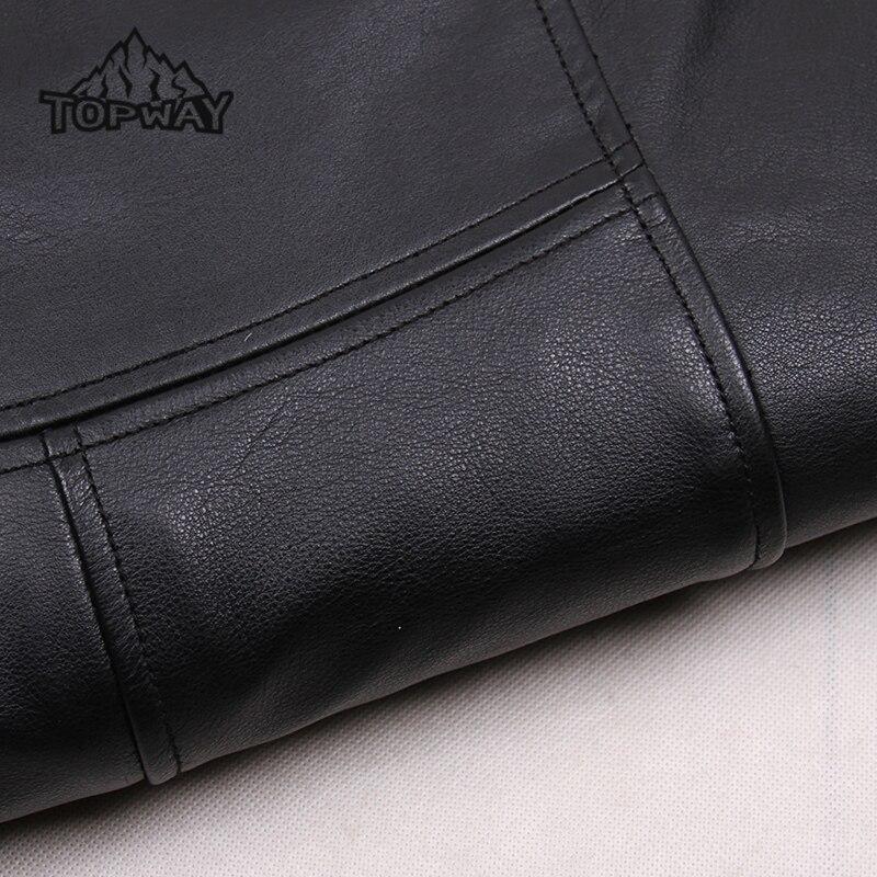 Fashion Warm Cappotto Lambskin Genuine Leather Jacket Men Slim Fit Hooded Casual Cotton Coat Windstopper Chaquetas Cuero Hombre
