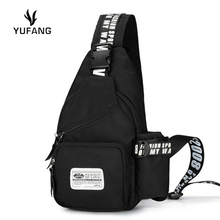YUFANG Men Function Cool Leisure Chest Bag Men Pack Oxford High Quality Brand Men Messenger bag Designer trave back Pack(China)