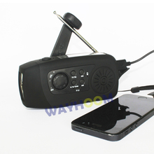 Multifunctional FM Solar Radio TF/MP3 Player Hand Crank Generator Emergency Phone Charger 2000mAh