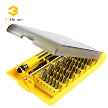 BeHelper 45 in 1 Magnetic Screwdriver Set Torx Screwdriver Bit Tool Kit for Watch PC iPhone Smart Phone Repair Dismantle Tools(China)