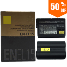 EN-EL15 Battery EN EL15 ENEL15 Camera Batteries pack For Original Nikon D600 D610 D600E D800 D800E D810 D7000 7100 d750 V1 MH-2