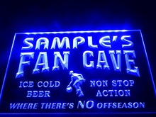 DZ064- Name Personalized Custom Basketball Fan Cave Man Room Bar Beer  LED Neon Light Sign