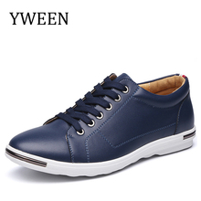 Buy YWEEN New Arrival Men Casual Shoes Spring/autumn Lace-up Solid Top Man Fashion Leather Outdoor Flats Shoe Big Size for $25.55 in AliExpress store