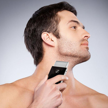 New Black Rechargeable Beard Razor Stainless Blade Electric Trimmer For Men Electric Shaver Barbeador Hair Clipper(China)