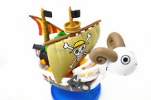 Free shipping Anime POP One Piece Action Figure Gold merry Boat ship Pirate ship Model PVC Action Figure Toys Model collection(China)