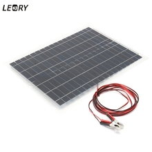 LEORY 20w 12V Flexible Solar Panel DIY Sunpower Solar Cells Battery Charger System Kits For Car Battery Car RV Boat home(China)