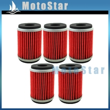 5pcs Fuel Oil Filter HF140 KN140 For Dirt Motor Bike Motorcycle WR250F WR450F WR250X WR250R YFZ450X YFZ450R GAS EC250(China)
