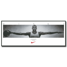 NICOLESHENTING Michael Jordan Wings Basketball Art Silk Fabric Poster Print 13x33 inch Wall Picture Home Room Decoration 026(China)
