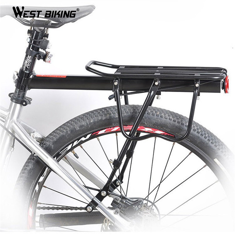 WEST BIKING Load 50Kg Bike MTB Black Cycling Rear Carrier Rack Seat Bicycle Outdoor High-strength Disc Brake/V-brake Cargo Shelf<br><br>Aliexpress