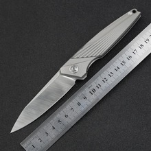 Outdoor Camping Survival M390 Outdoor Folding Knife Portable Hunting Titanium Tactical Pocket Rescue Utility Knives EDC Tool OEM(China)
