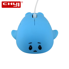 Mini USB Wired Optical Mouse 3D Cute Dolphin Shape Mice With 1.1m Cable For Laptop Computer Gaming Children mouse for Kids Gifts(China)