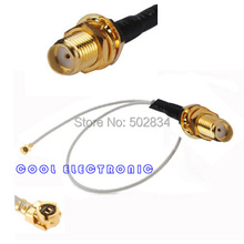 100pcs/lot RF Pigtail Cable  IPX / u.fl  to SMA Female Cable 20cm For PCI Wifi Card Wireless Router