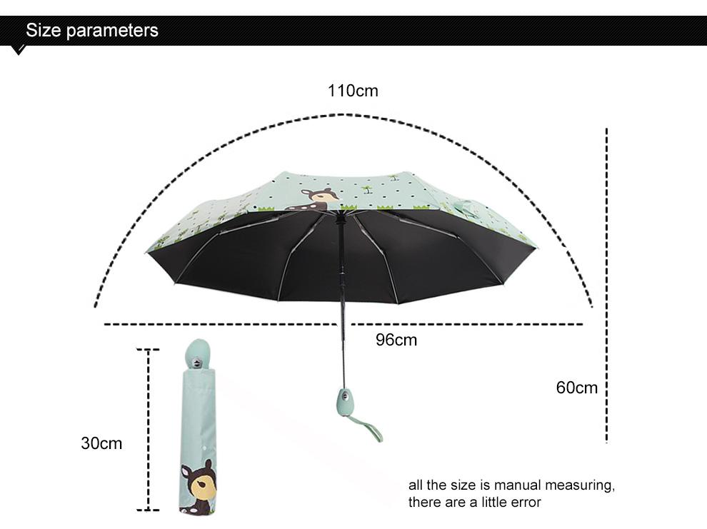 fully automatic children umbrella small fresh boys girls folding