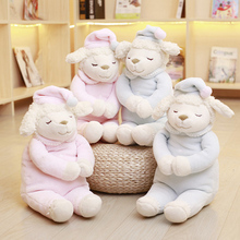 Hot sale 1pc 50cm sweet cute sheep cartoon plush toy cartoon stuffed animal sheep doll children baby birthday gift