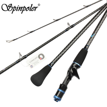 Spinpoler 1.95m Slow Jigging Fishing Rod Fuji Super Power 6KG Saltwater Sea Boat 2 Section Heavy Jigging Rod Fishing Pole Tackle
