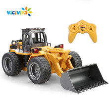 VICIVIYA Functional Front Loader Bulldozer Electric RC Forklift Truck Construction Tractor Remote Control Earthmover Pushdozer(China)