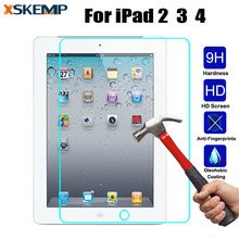 Tempered Glass For iPad 2 3 4 Protective Film For The Tablet Explosion-Proof Toughened LCD HD Clear Screen Protect Cover Guard(China)