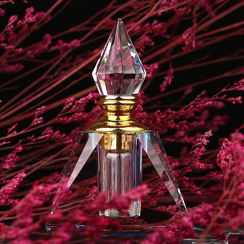 3ML Rainbow Vintage Pyramid Aurora Borealis Crystal Refillable Woman Perfume Bottle Empty Container w/gold Trim Glass Dauber<br><br>Aliexpress