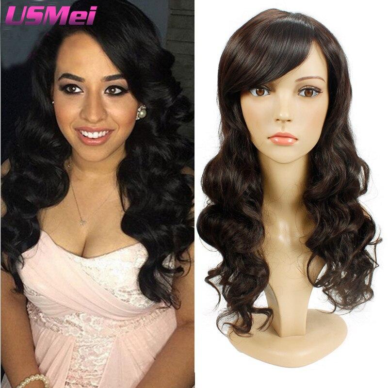 New Arrival Synthetic Wigs for Black Women Freetress Hair Long Wavy Brown Wig Faux Locs Pruiken Women Echt Haar Merida Long Wigs<br><br>Aliexpress