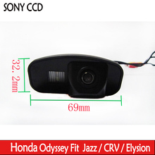 Water Proof New LED Night Vision HD car camera Rear View Reverse color SONY CCD Camera For Honda CRV CR-V Odyddey Fit Jazz(China)