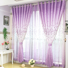 Curtains For High-grade Bedroom Living Room Window Shading Curtain Fabric Material Cloth semi pastoral product customization