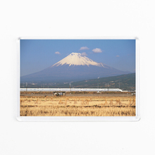 Frige Sticker, High-quality Acrylic Refrigerator Magnet, Fujiyama and Shinkansen Train, Japanese Souvenir(China)
