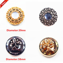 1 pcs,39mm mix  fashion metal acrylic Fur buttons, Mink coat buttons. Rhinestone buttons. big with a diamond buckle.accessory
