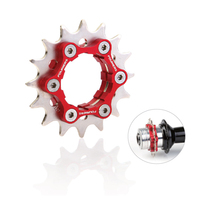 FOURIERS MTB Fix Gear 16t 17 18 19 20 21 22 23T Single Speed Bicycle Cog 6-bolt Disc Brake Mount