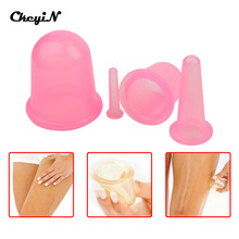 Hot 4 pcs Anti Cellulite Silicone Vacuum Cupping Cups Family Body Massage Neck Face Back Massager Relax Full Body Massage Cup 0