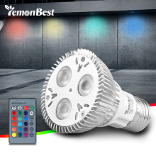 LemonBest 10W PAR20 E27 RGB LED Bulb Stage Lamp Light 16 Colors Remote Control Flash Strobe AC 85-265V(China)