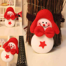 6.5*10.5cm Christmas Snowman Baubles Party Xmas Tree Decorations Fashion Flannel Hanging Ornament Decor Enfeite De Natal 2018@YL(China)