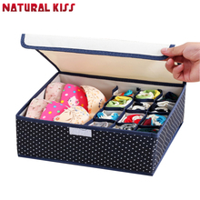 13-17Cells Non-Woven Fabric Folding Storage Box 32*26*12.5CM  For Socks Ties Bra Underwear Organizer Closet Drawer Divider