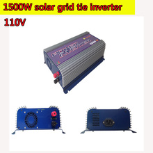 1500W Grid Tie Power Inverter 110V Pure Sine Wave DC to AC Solar Power Inverter MPPT Function 45V to 90V Input High Quality