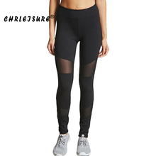 Buy CHRLEISURE Fashion Mesh Leggings Women Black Trousers Pants Elasticity High Waist Workout Leggings Fitness Legging for $7.99 in AliExpress store