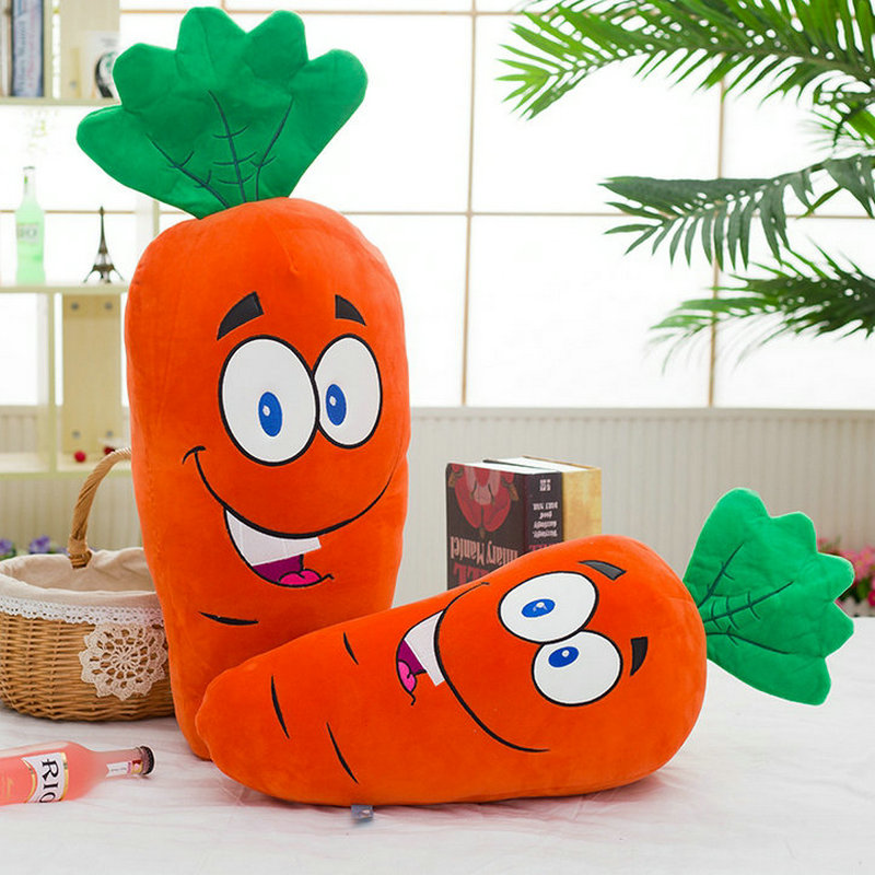 70/90cm Big Size Toys laugh Carrot Plush Toys Stuffed soft comfy Plush Carrot Cloth Doll Baby Pillow Cushion decorate At home(China (Mainland))