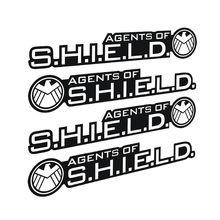 11*2CM Aegis Bureau Agents Car Stickers Avengers Car Door Stickers Wrist Protective Film CT-354